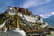 Symbolize Posters - Potala and Stupas - Lhasa Poster by Craig Lovell