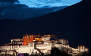 Buddhism Pyrography Metal Prints - Potala Palace Metal Print by Chlaus Loetscher