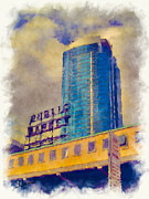 Potala Tower Seattle Print by Stephen Lawrence Mitchell