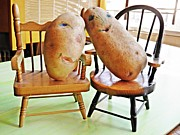 Interior Still Life Photo Metal Prints - Potato Head Friends Metal Print by Sarah Loft