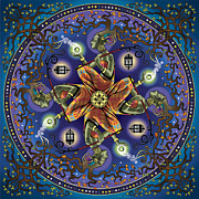 Sacred Digital Art Metal Prints - Potential Mandala Metal Print by Cristina McAllister