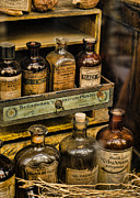 Drug Stores Prints - Potions and Cure Alls Print by Heather Applegate