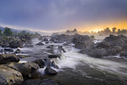 Great Falls Tapestries Textiles - Potomac Light by Joseph Rossbach