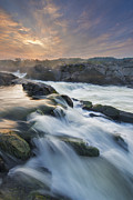 Flowing Water Prints - Potomac Light Show Print by Joseph Rossbach