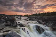 Great Falls Framed Prints - Potomac Sunrise Framed Print by Joseph Rossbach