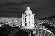 Bolivia Guide Prints - Potosi Church Dome Black And White Print by For Ninety One Days