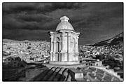 Bolivia Guide Prints - Potosi Church Dome Black And White Framed Print by For Ninety One Days
