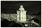 Bolivia Guide Prints - Potosi Church Dome Black And White Vintage Print by For Ninety One Days