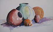 John Svenson Paintings - Pots by John  Svenson