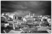 Bolivia Guide Prints - Potsi 2 Towers Black And White Retro Print by For Ninety One Days