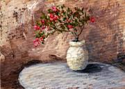 Clay Paintings - Potted Fuchsia by Darice Machel McGuire