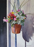 Potted Posies Print by Karol Wyckoff