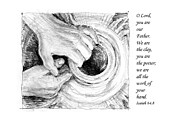 Pen And Ink Drawing Prints - Potter and Clay Print by Janet King