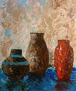 Pottery Paintings - Pottery by Patsi Stafford