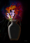 Beautifull Posters - Pottery vase flowers 2 Poster by Christian Simonian