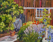 Shed Paintings - Potting Shed by Nancy Nuttelman