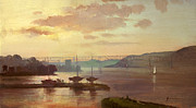 Keith Painting Originals - Poughkeepsie Sunrise by Keith Gunderson