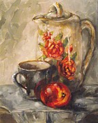 Teapot Paintings - Pour Me Some by Angela Sullivan