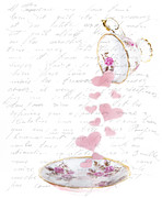 Pouring My Heart Out Print by Rebecca Cozart