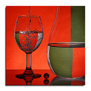 Italian Wine Framed Prints - Pouring Pitcher Framed Print by Robert Schwarztrauber