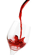 Wine Pouring Metal Prints - Pouring Red Wine Metal Print by Chevy Fleet