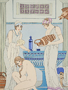 Greek Classic Posters - Pouring Water Over the Patient Poster by Joseph Kuhn-Regnier