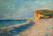 Sandy Beaches Framed Prints - Pourville Near Dieppe Framed Print by Claude Monet