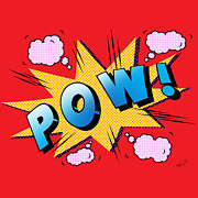 Kids Room Art Metal Prints - Pow Comics  Metal Print by Mark Ashkenazi