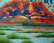 Marsh Scene Paintings - Pow Pow by Dwain Ray
