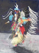 Pow Wow 2 Print by Yoshiko Mishina