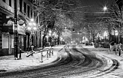 Powell And Carrall Street In Gastown Print by Alexis Birkill