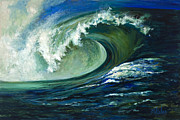 Atlantic Ocean Painting Posters - Power Poster by Billie Colson