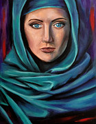 Hijab Paintings - Power by Jelena Cestaric
