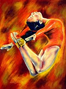 Award Pastels Originals - Power by Michael Alvarez