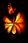 Paula Ayers Posters - Power of Prayer Believe Poster by Paula Ayers