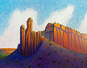Abiquiu Posters - Power of the Land Poster by Brian  Commerford