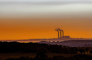 Power Plants Photo Prints - Power of the Plains Print by Thomas Bomstad