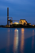 Manufacturing Framed Prints - Power Plant Framed Print by Adam Romanowicz