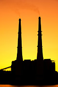 Power Plants Posters - Power Plant Poster by David Davis