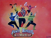 Power Rangers Samurai Print by Rich Fotia