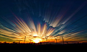 Merged Digital Art Prints - Power Source Print by Matt Molloy