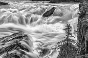 Banff Framed Prints - Power Stream Framed Print by Jon Glaser