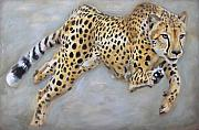 Cheetah Painting Prints - Power Surge Print by Leigh Banks