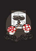 Mushroom Digital Art Prints - Power to the mushroom Print by Budi Satria Kwan