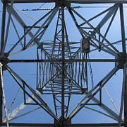 Power Tower. Square Format. Print by Ausra Paulauskaite