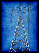 Electric Pylon Framed Prints - Power Up 1 Framed Print by Wendy J St Christopher