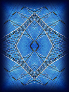 Electric Pylon Framed Prints - Power Up 2 Framed Print by Wendy J St Christopher