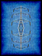 Electric Pylon Framed Prints - Power Up 3 Framed Print by Wendy J St Christopher