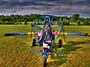 Motorized Framed Prints - Powered Parachute Framed Print by Thomas Young