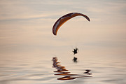 Powered Paraglider Print by John Edwards